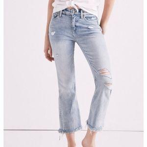Lucky Brand Orta premium denim Ava flare crop jean